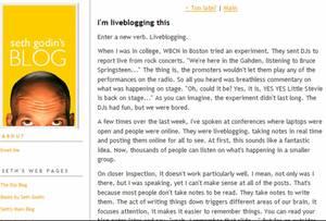 Liveblogginggodin